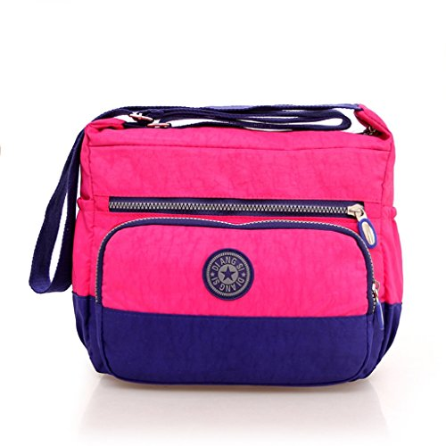 1176 New Shoulder Handbag Fashion Casual Handbag Hit Color Canvas Bag Messen