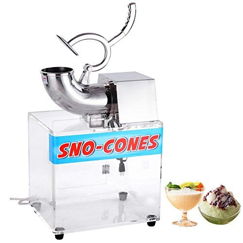 Yescom 250w 110v Stainless Steel Electric Ice Crusher Snow Cone Maker Shaver 440lbs/hr