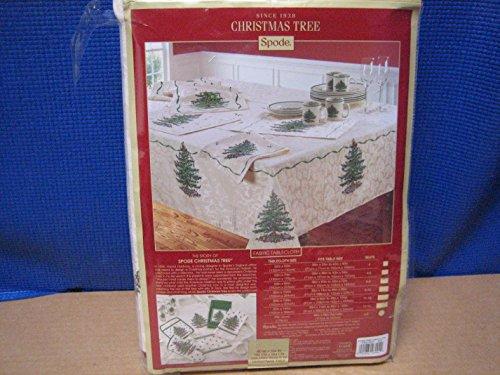 """Spode Christmas Tree Tablecloth 60"""" x 104"""""""