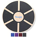 Yes4All Wooden Wobble Balance Board - Exercise Balance Stability Trainer 15.75 inch Diameter