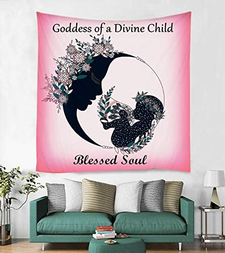 Trishakti Wellness Tapestry Wall Hanging Room Decor – Size 51 x 59 , Elegant Look Soft Touch, Best For Pregnancy Gifts, Brings Positive Energy Vibe Feminine Creative Power, Wall Art