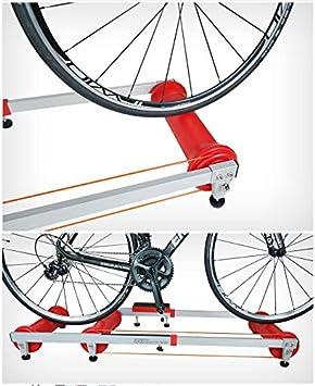 Ciclismo Indoor Bike, Bike Trainer soporte, bicicleta de carretera, bicicletas bastidor de rodillos Tabla entrenamiento estiramiento interior del rodillo Riding Plataforma equipo de la aptitud,Rojo: Amazon.es: Hogar
