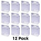 "Clear Storage Box - 12-Pack - 2"" x 2"" x 1.25"" - Great for Beads, Small Parts, Coins, Party Favors, Etc"
