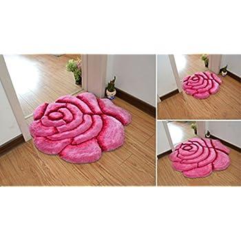 Amazon Rose Design Rugs Carpetflower Shape Shaggy Bedroom