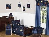 Sweet Jojo Designs 5-Piece Space Galaxy Galactic Planets Rocket Ship Boys Girls Toddler Bedding Set
