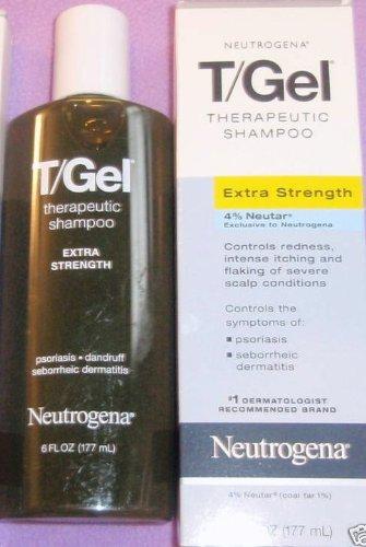 Neutrogena T / Gel Shampooing thérapeutique pour le psoriasis et la dermatite séborrhéique, Extra Strength avec 4% Neutar, 6 Oz.