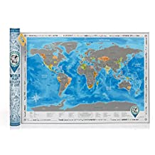 Detailed Scratch Off World Poster. ORIGINAL – from Manufacturer. Large World Map with Scratch Off & Stickers. Scratch Off Places You've Been on the World Map Scratchable Poster. Tube Packaging