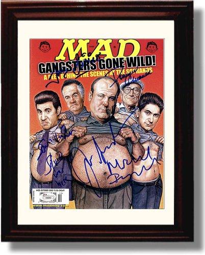 (Framed Sopranos Autograph Replica Print - Mad)