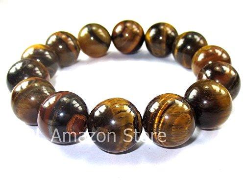 Tiger Eye Amulet (So Rare! Magic Blessed Tiger Eye Stone Bracelet Enhance Lucky Life Holy Thai-Buddha-Amulets)
