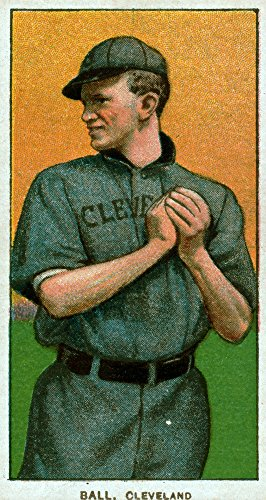 (Cleveland Naps - Neal Ball - Baseball Card (24x36 Giclee Gallery Print, Wall Decor Travel Poster))