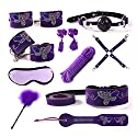 10 PCS SMおもちゃ乳首カップリング金属チェーンSMおもちゃカップル用 ( Color : Purple )