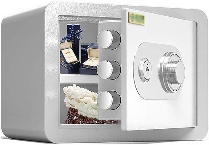 LLRYN Caja Fuerte Cajas Fuertes 30cm Seguro mecánico, Oficina de pequeña Escala mecánica Fuerte Todo Inoxidable Anti-Sensacional Pared Cajas Fuertes con Claves (Color : A): Amazon.es: Hogar