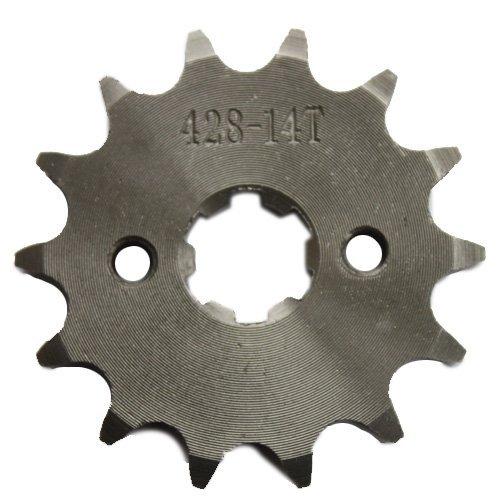 428 Chain 14-tooth 17mm Engine Sprocket for 50cc 70cc 90cc 110cc 125cc ATV Dirt Bike Go Kart Pit Bike 4 Wheeler Quad Bikes
