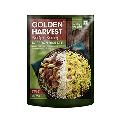 Recipe Ready Saffron Rice Meal Kit Serves 4 All Ingredients Inside