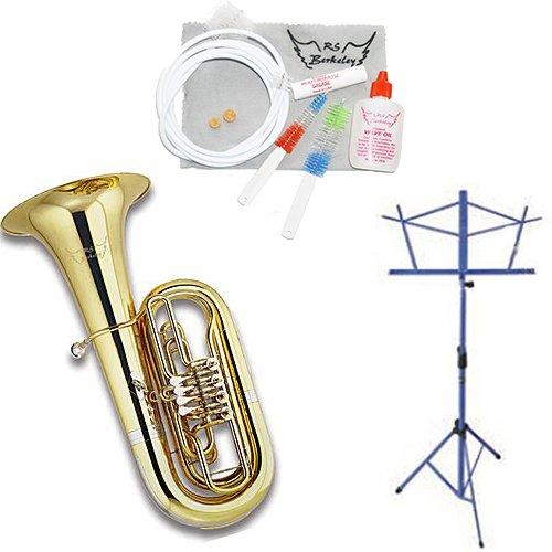 Deluxe Package Artist Series 3/4 Size BBb Rotary Tuba W/ Music stand and Care Kit by Tuba