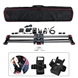 ASHANKS 31''/80CM Carbon Slider Follow Focus Pan Motorized Electric Control Delay Sliders Slider Dolly Track Rail for Timelapse Photography