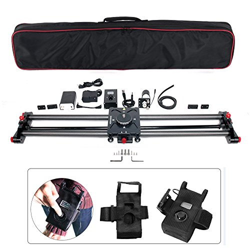 ASHANKS 31''/80CM Carbon Slider Follow Focus Pan Motorized Electric Control Delay Sliders Slider Dolly Track Rail for Timelapse Photography by ASHANKS