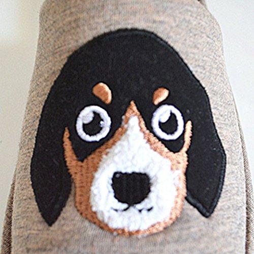 Kntoudx Damesschoenen Waterproof Cartoon Skid-proof Terry Open Teen House Slipper Brown-dog
