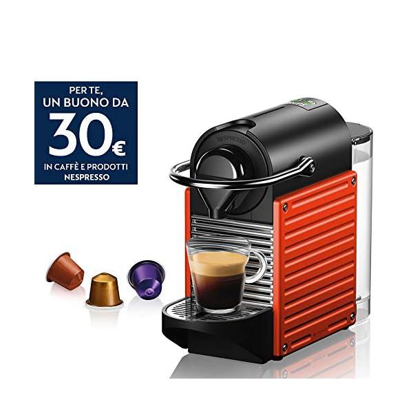 Krups Nespresso Pixie XN3045K Macchina per caffè Espresso, Ricette Programmabili, 1260 W, Rossa, 0.7 Litri, Rosso 2