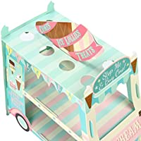 Kitchnexus 3 Tier Cupcake Stand Ice Cream Street Van Cake Stand Holder for Theme Party Decoration Pink