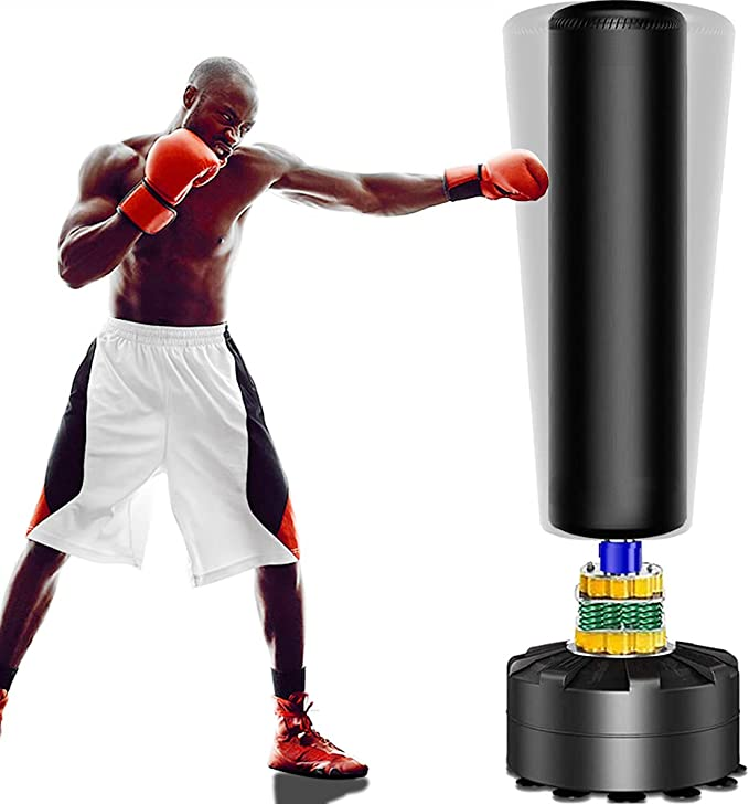 GreatTry 【US Spot】 Freestanding Punching Bag Boxing Bag Heavy-Duty Boxing Punching Bag Rack Free Standing Boxing Bag for Home Fitness Fitness Equipment Heavy Solid Boxing Bag with