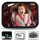 Jasonwell Espejo para Bebe Auto Retrovisor Espejo de Asiento Extra Grand 360° Ajustable Accesorios para Autos Espejo de Carro Monitoriza de Forma Segura al Niño para el Asiento Trasero