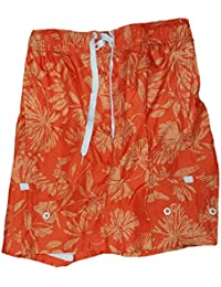 05a3d5d8d6 Orange Hibiscus Tugger Above Knee 20.5
