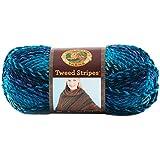 Lion Brand Yarn 753-205S Tweed Stripes Yarn, Caribbean