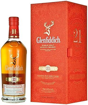 Whisky Escocés De Malta Glenfiddich 21 Años Botella 700 Ml