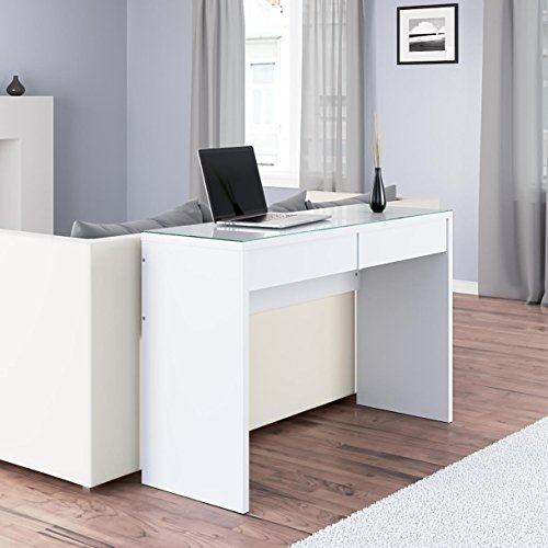Modern Sofa Living Room Entryway Table Console with 2 Drawers , White ... (Makeup Console compare prices)