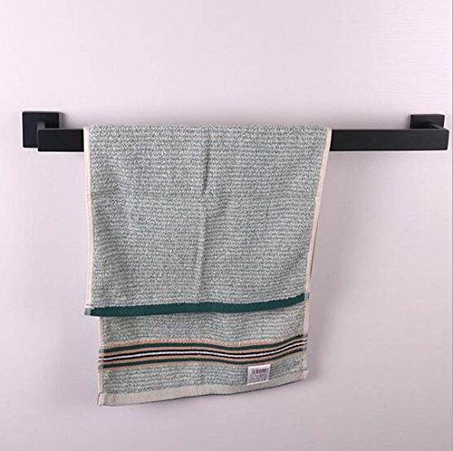 Toalleros repisa Estante de toalla de acero inoxidable Carril Rack cepillado negro 62CM: Amazon.es: Hogar