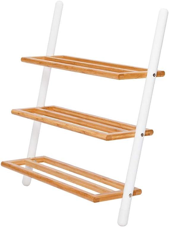 ZYXE-Zapateros Escalera de 3 niveles Zapatero de escalera Zapato de madera independiente Organizador de almacenamiento Torre apilable Ideal para sala de estar Dormitorio Entrada Pasillo Interior y ext: Amazon.es: Hogar
