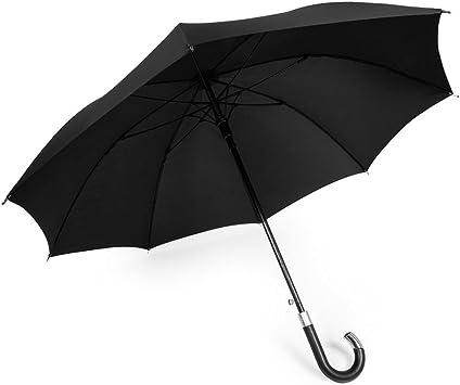 Amazon.com: Paraguas DAVEK ELITE (clásico negro) – Paraguas de caña de  calidad con apertura automática, fuerte y resistente al viento