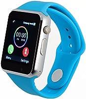 Smartwatch A1 Relógio Inteligente Bluetooth Gear Chip Android iOS Touch Faz e atende ligações SMS Pedômetro Câmera - AZUL