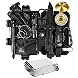 Gifts for Men Him Boys, Upgraded Survival Gear Kit 15 in 1 for Dad, Fishing Hunting Camping Birthday Gifts Ideas for Him Boyfriend, Emergency Tool Gift Ideas for Teen Boy Husband