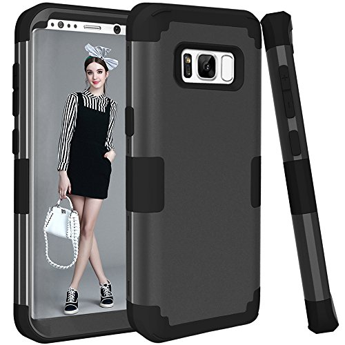 Galaxy S8 Plus Case, KAMII 3in1 [Shockproof] Drop-Protection Hard PC Soft Silicone Combo Hybrid Impact Defender Heavy Duty Full-Body Protective Case Cover for Samsung Galaxy S8 Plus