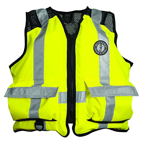 Mustang Survival Corp ANSI Industrial Mesh Vest (ANSI 107-2004 Class 1 Compliant), Fluorescent Yellow Green, XX-Large/3X-Large ()