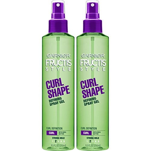 - Garnier Fructis Style Curl Shape Defining Spray Gel, Curly, 8.5 oz. (Packaging May Vary), 2 Count