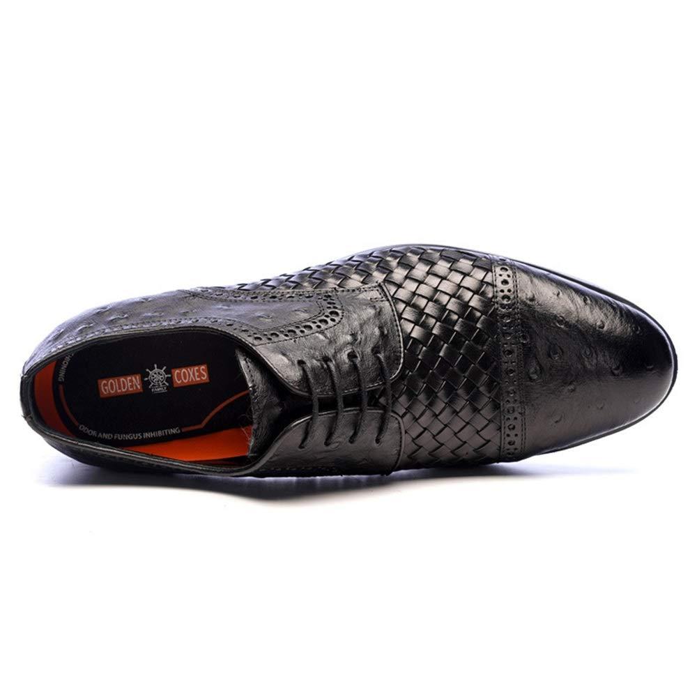 ZHRUI Große Derbys Größe Lace up Derbys Große für Männer aus echtem Leder Formale Business-Kleid Schuhe (Farbe   Schwarz, Größe   EU 42) e0c223