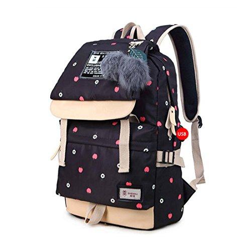 Ball Backpack School Characters Canvas Cute Plush Teenage Printing Bags Bag Women Bookbag Chinese Girls C5 Backpacks for C1 qzvt66