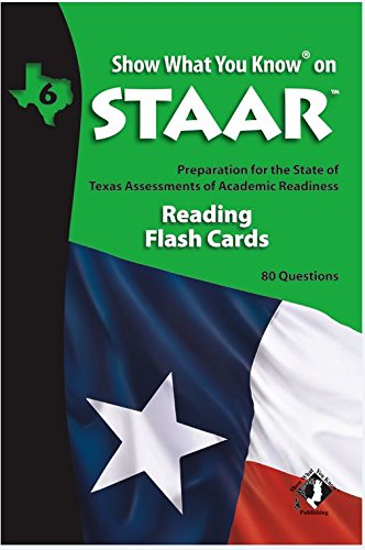 SWYK on STAAR Reading Flash Cards Gr 6 (Show What You Know on Staar)
