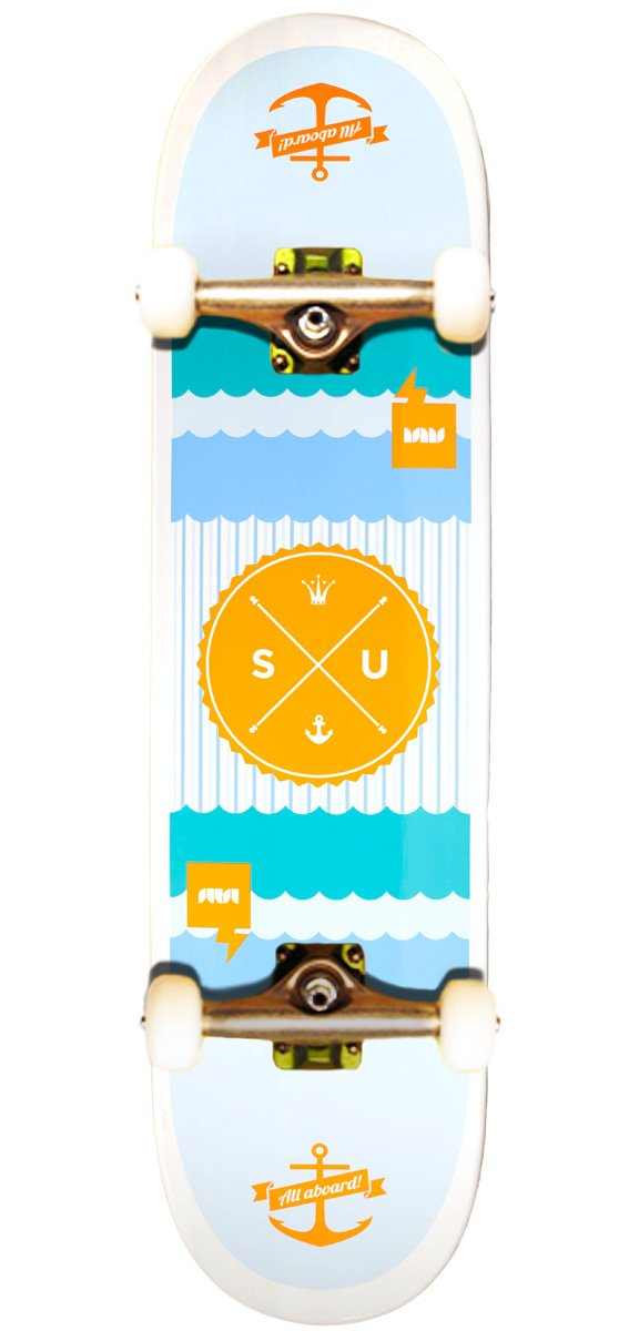7.75 Natural 1-06-014-03-00 Bamboo Skateboards All Aboard Graphic Complete Skateboard