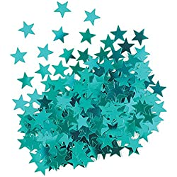 Metallic Teal Star Confetti