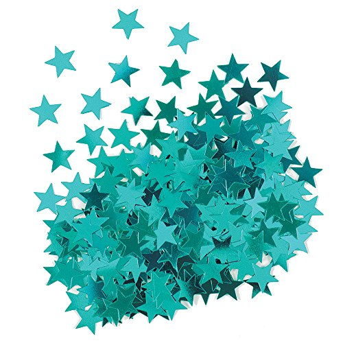 Metallic Star Confetti - Teal