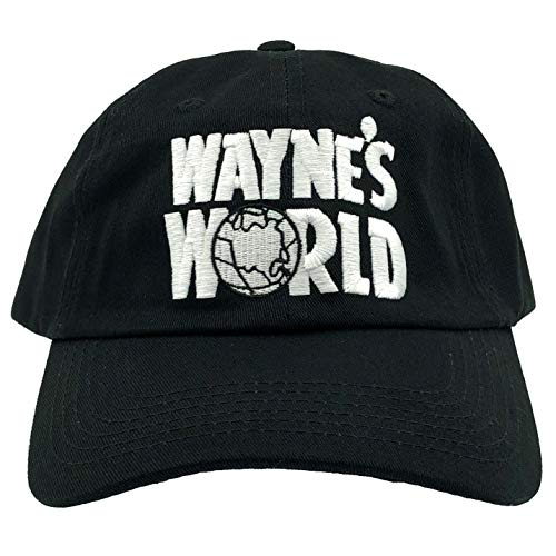 4e61b1c01088c Wayne s World Hat Cap Waynes World Dad Hat Wayne Movie Baseball Cap Black  Cotton
