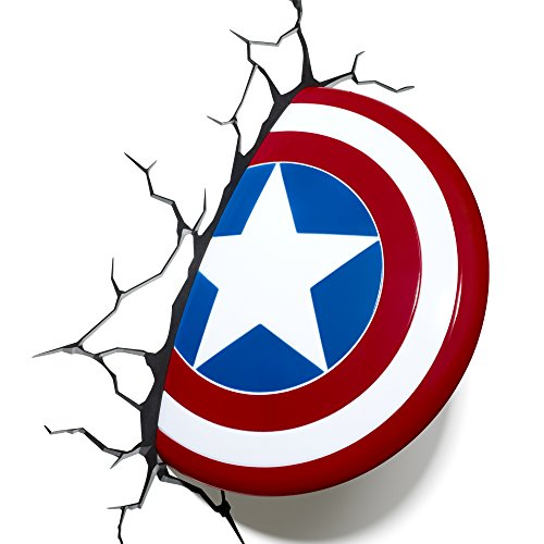 3D Light FX Marvel Captain America Shield 3D Deco LED Wall Light