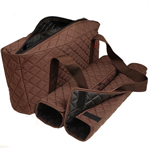 Mahjong Case - American-Wholesaler Inc. New! - Empty Mahjong Bag - Brown Quilted Soft Bag by Linda Li - Empty Bag Only