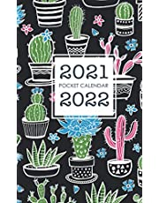 2021-2022 Pocket Calendar: Cactus Cover   Monthly 2 Year Appointment Planner 2021-2022   Two Year Calendar Small Size   24 Months Agenda Schedule Organizer with Holiday   Jan 2021 - Dec 2022