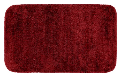 Garland Rug Traditional Plush Washable Nylon Rug, 30-Inch by 50-Inch, Chili Pepper Red (Pepper Chili Rug)