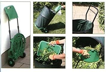 Laubsammler Laubsack fahrbar Laub faltbar Gartensack 160L von rg-vertrieb